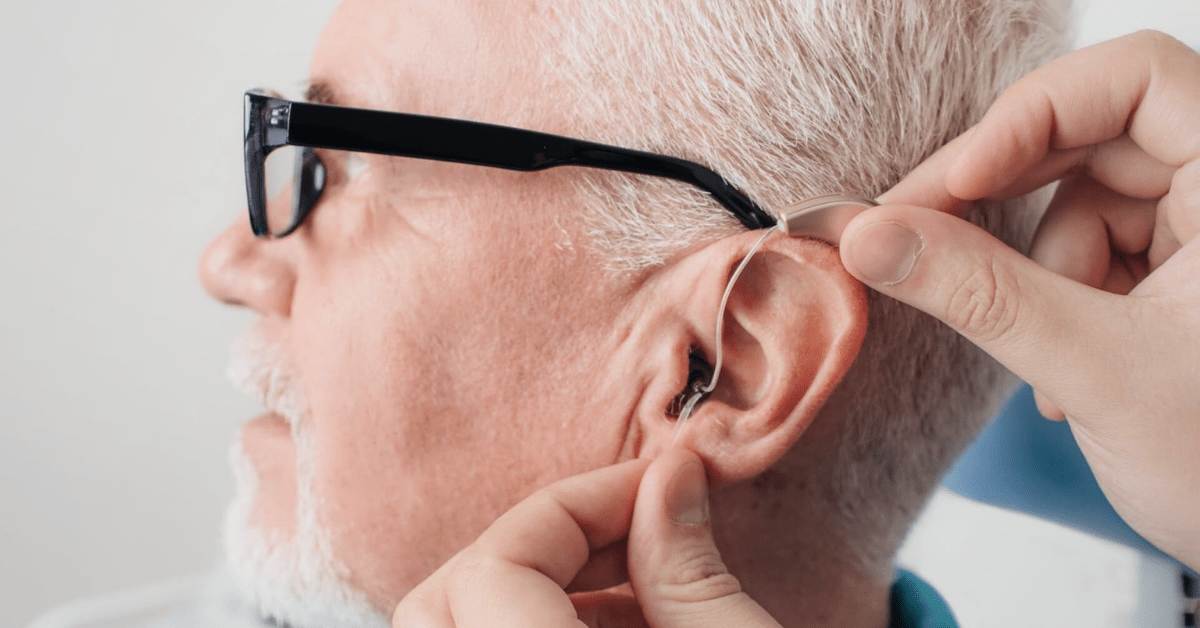 glasses with hearing aids