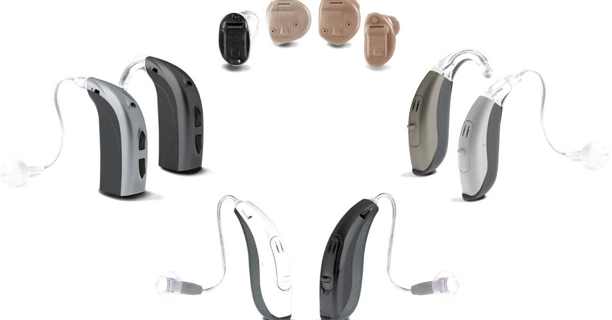 BTE and ITE hearing aids