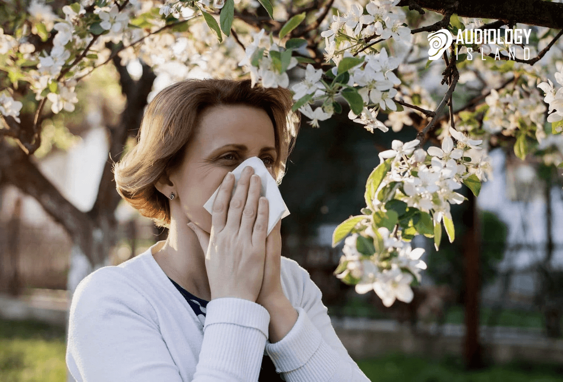 spring allergies and hearing loss